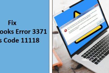 Fix QuickBooks Error 3371 Status Code 11118