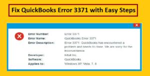 Fix QuickBooks Error 3371