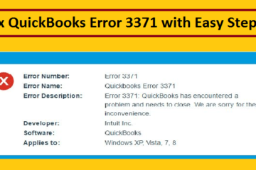 Fix QuickBooks Error 3371