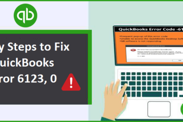 Fix QuickBooks Error 6123, 0