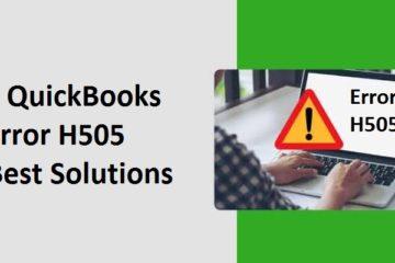 Fix QuickBooks Error H505