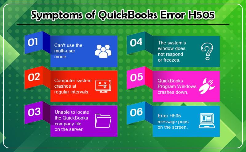 Symptoms of QuickBooks Error H505