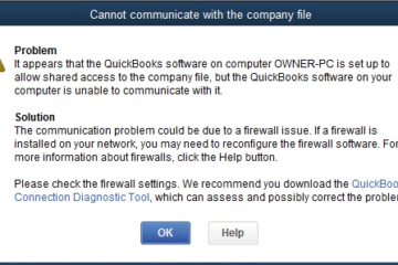 Company File Is Missing or Cannot Be Found in QuickBooks