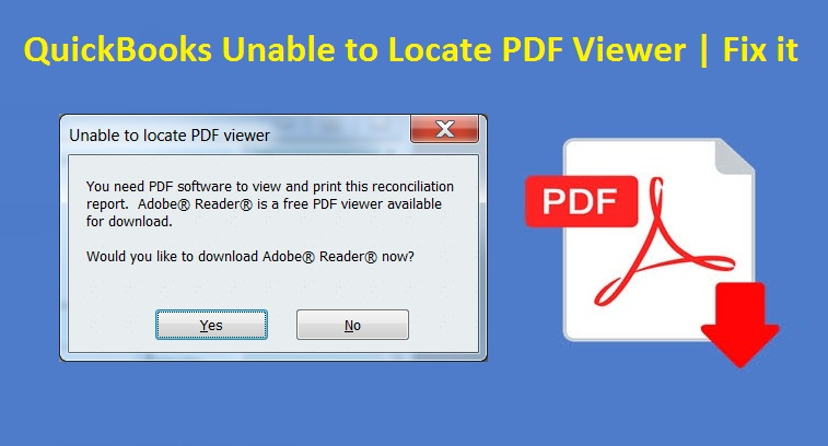 QuickBooks Unable to Locate PDF Viewer