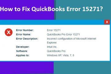 QuickBooks Error 15271