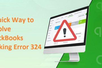 QuickBooks Banking Error 324
